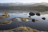 View across Loch Morlich to the Cairngorms Cairngorms National Park Highland Region Scotland