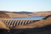 Nant-y-Moch reservoir and dam Ceredigion Wales United Kingdom