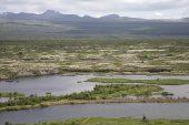 Thingvallavatn lake near Thingvellir Iceland July 2009