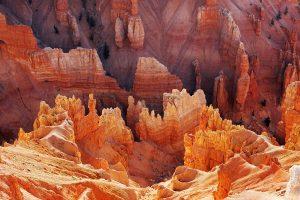 Sandstone rocks and hoodoos at Cedar Breaks National Monument Utah USA