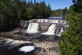 Leprau Falls on the Leprau River St John New Brunswick Canada August 2016