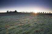 Sunrise over farmland near Entradas Alentejo Region Portugal