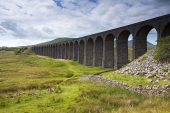 Part of the Ribblehead Viaduct River Ribble Valley Ribblehead Yorkshire Dales National Park