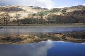Reflections in the River Orchy in winter, Glen Orchy, Scotland