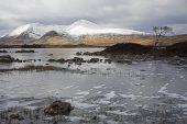 Loch Ba and the Black Mount area in winter, near Crainlarich, Scotland