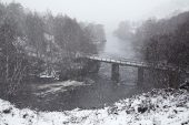 Bridge over River Affric Glen Affric National Nature Reserve Highland Region Scotland United Kingdom