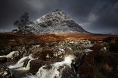 Stob Dearg and the River Coupall Glen Etive Highland Region Scotland UK