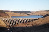 Nant-y-Moch reservoir and dam Ceredigion Wales United Kingdom