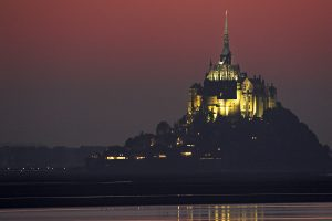 Sunset over le Mont-St-Michel Normandy France