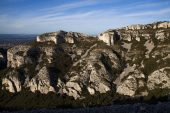 Limestone outcrops in the Alpilles Natural Regional Park Bouches-du-Rhone Provence France