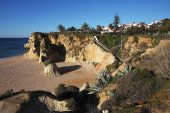 Coastal cliffs Armacao de Pera Algarve Portugal