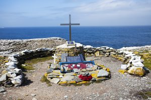 Memorial to HMS Sheffield Sea Lion Island Falkland Islands November 2015