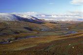 Upland sheep walk Elan Valley Rhayader Powys Wales UK