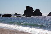 Rocks off Munro Beach South Island New Zealand